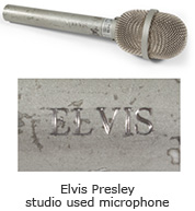 Elvis Presley studio used microphone