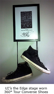 U2's the Edge stage worn 360° Tour Converse  Shoes