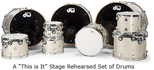 "A ""This is It"" Stage Rehearsed Set of Drums"
