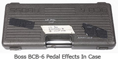 Boss pedal effects in case