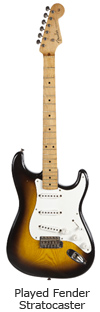 Played Fender Stratocaster