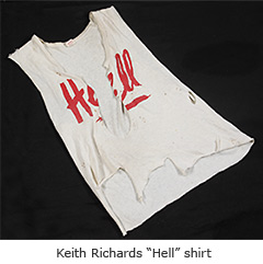 "Keith Richards ""Hell"" Tshirt"
