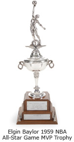 Elgin Baylor 1959 NBA All-Star Game MVP Trophy