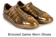 Bronzed Game Worn Shoes