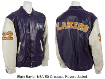 Elgin Baylor NBA 50 Greatest Players Jacket