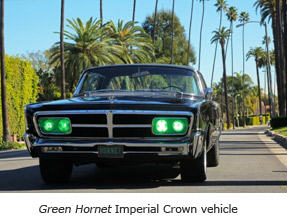Green Hornet Imperial Crown vehicle