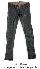 Axl Rose stage worn leather pants