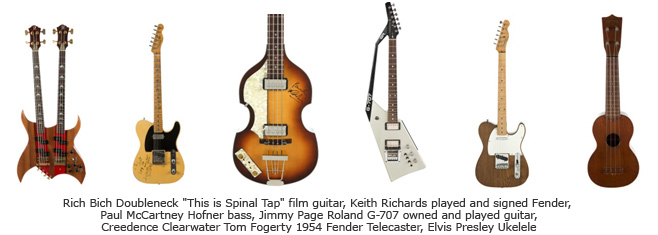 Guitars in Icons and Idols: Rock auction