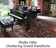 Phyllis Diller Chickering Grand Pianoforte