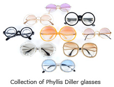 Collection of Phyllis Diller glasses