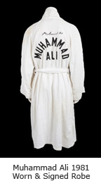 Muhammad Ali 1981 Worn & Signed Robe