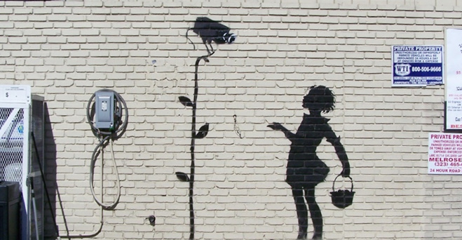 Banksy Flower Girl