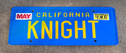 KNIGHT License Plate