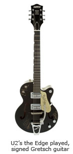 U2's the Edge played, signed Gretsch