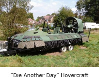 """Die Another Day"" Hovercraft"