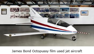 James Bond Octopussy film used jet aircraft