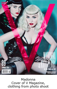 Cover of V Magazine, clothing from photo shoot