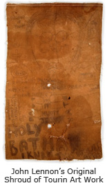 John Lennon's Original Shroud of Tourin Art Work