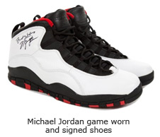 Michael Jordan game worn and signed shoes
