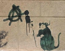 "Banksy's ""Anarchy Rat"""