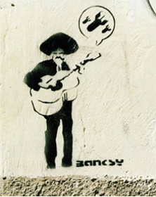 "Banksy's ""Mariachi Player"""