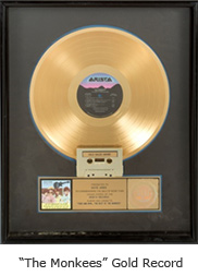 "The Monkees"" Gold Record"