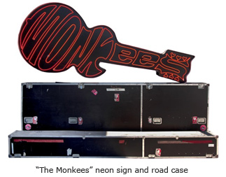 """The Monkees"" neon sign and road case"