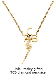 Elvis Presley gifted TCB diamond necklace