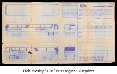 "Elvis Presley ""TCB"" Bus Original Blueprints"