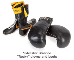 "Sylvester Stallone ""Rocky"" gloves and boots"