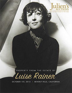 Luise Rainer auction catalog