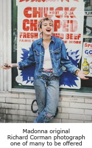 Madonna original Richard Corman photograph