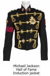Michael Jackson Hall of Fame Induction jacket