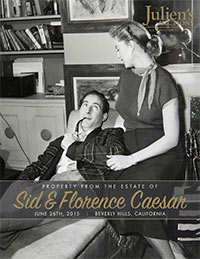 Catalog for Property From The Estate of Sid and Florence Caesar