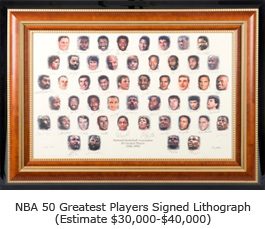 NBA 50 Greatest Players Signed Lithograph