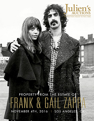 Frank and Gail Zappa Auction Catalog