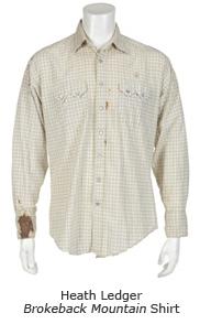 Heath Ledger Brokeback Mountain Shirt