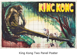King Kong Two Panel Poster