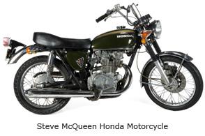 Steve McQueen Honda Motorcycle