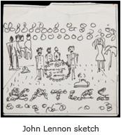John Lennon Sgt. Pepper's sketch