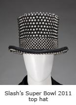 Slash's Super Bowl 2011 top hat