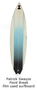Patrick Swayze Point Break film used surfboard