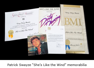 "Patrick Swayze ""She's Like the Wind"" memorabilia"