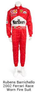 Rubens Barrichello 2002 Ferrari Race Worn Fire Suit