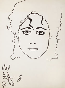Michael Jackson Original Drawing