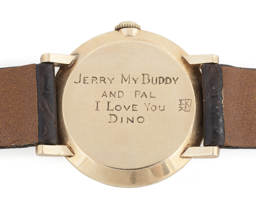 Le Coultre watch gifted from Dean Martin