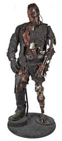 Life-size Terminator 3 screen figure